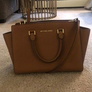 Medium size Michael Kors brown bag